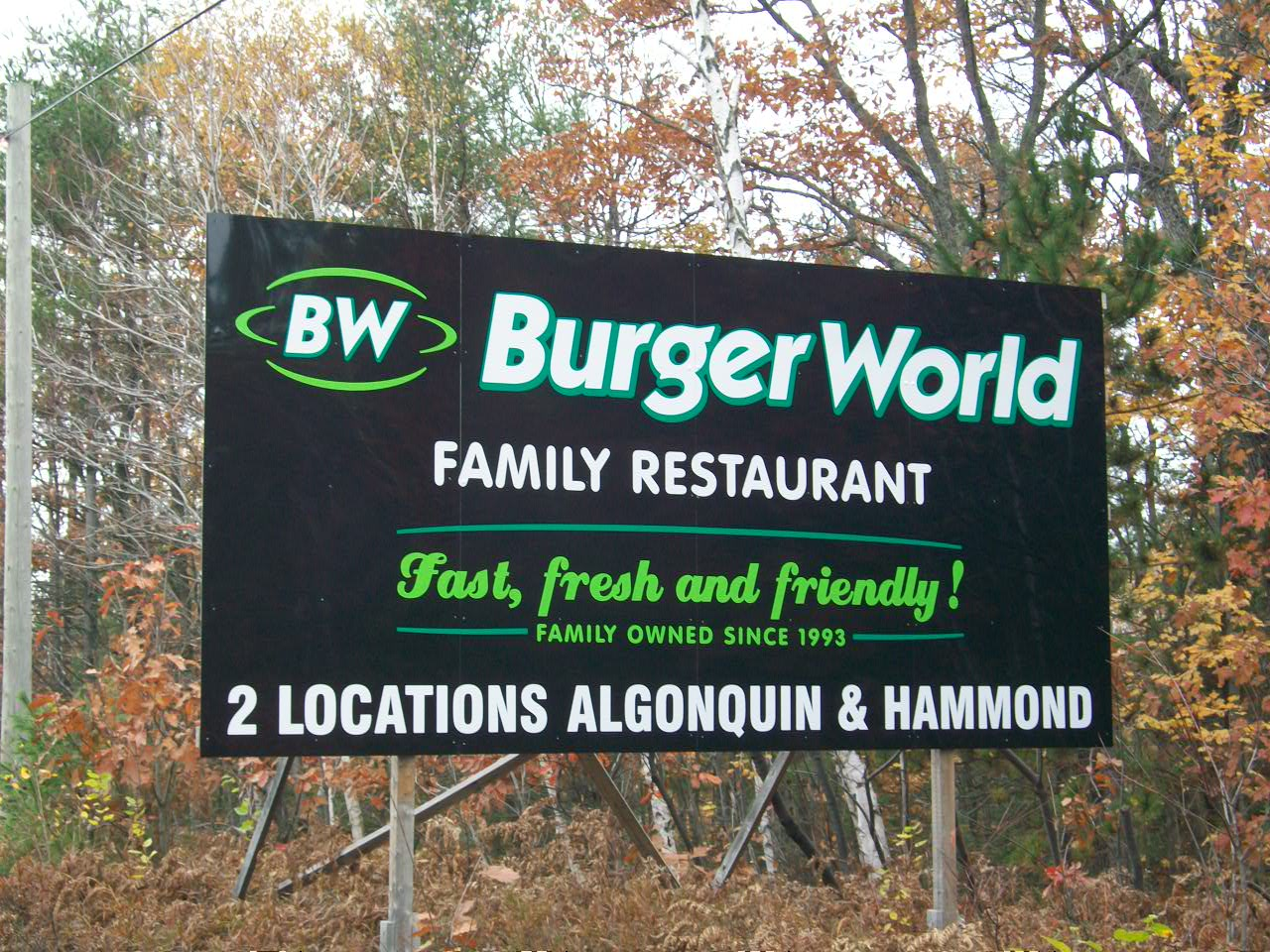 Burger World Billboard