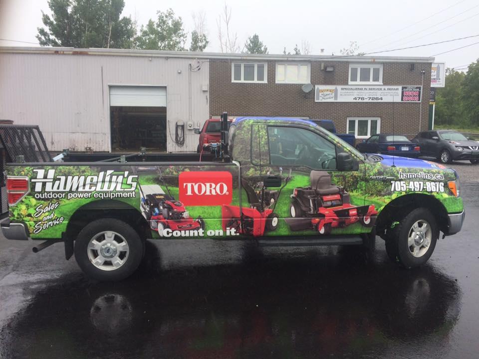 Hamelin's Outdoor Motor Equipment - Truck Wrap