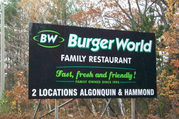 Burger World Billboard
