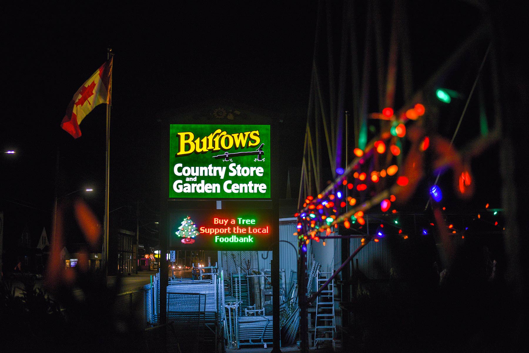 LED Sign - North Bay - Burrows Country Store & Garden Centre